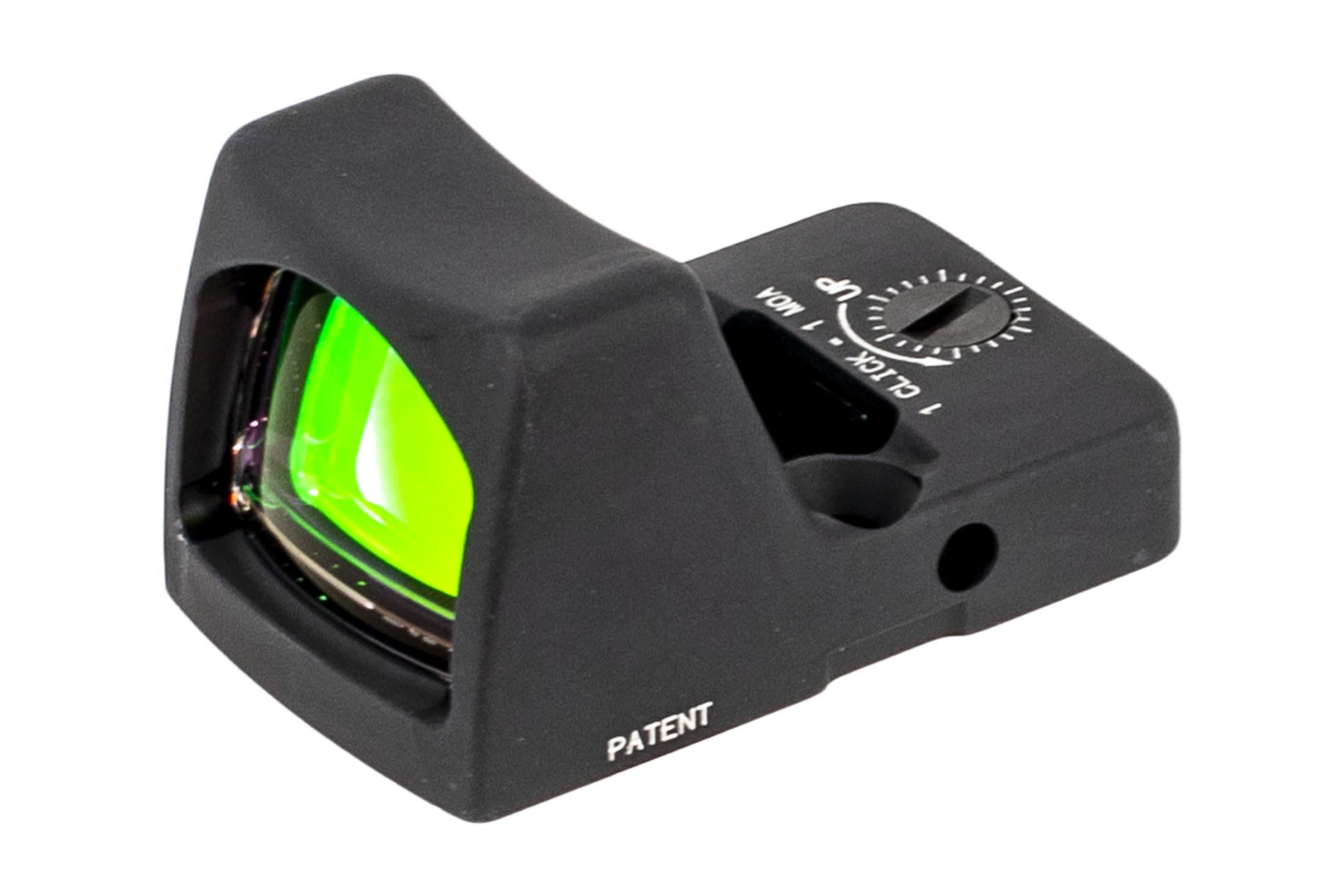 Trijicon 6.5 MOA RMR Type 2 Adjustable LED sniper red dot sight is designed to survive punishing handgun slide use with a grey anodized finish