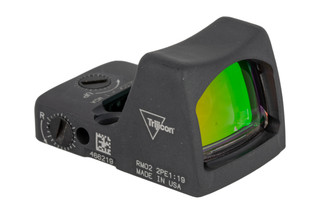 Trijicon RMR Type 2 Adjustable LED Reflex sight features a 6.5 MOA reticle and sniper grey cerakote finish