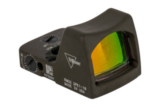 Trijicon RMR Type 2 Adjustable LED Reflex sight features a 6.5 MOA reticle and ODG cerakote finish