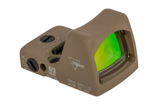 Trijicon RMR Type 2 Adjustable LED Reflex sight features a 6.5 MOA reticle and flat dark earth cerakote finish
