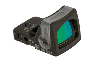 Trijicon RMR Type 2 dual illuminated LED Reflex sight features an amber 7 MOA reticle and olive drab green cerakote finish