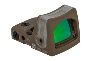 Trijicon RMR Type 2 Adjustable LED Reflex sight features a 7 MOA amber dot reticle and FDE cerakote finish