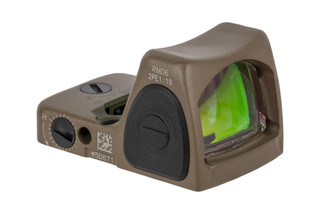 Trijicon RMR Type 2 Adjustable LED Reflex sight features a 3.25 MOA reticle and FDE cerakote finish
