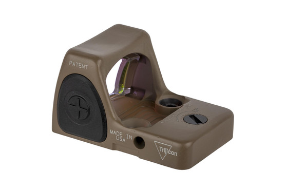 Trijicon RMR Type 2 adjustable reflex sight features a bright 3.25 MOA reticle and FDE finish perfect for your handgun slide