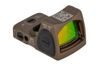 Trijicon HRS RMR Type 2 Adjustable LED Reflex sight features a 3.25 MOA reticle and anodized Coyote Brown finish