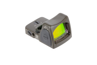 Trijicon RMR Type 2 Adjustable LED Reflex sight features a 6.5 MOA reticle and OD Green cerakote finish