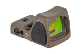 Trijicon RMR Type 2 Adjustable LED Reflex sight features a 6.5 MOA reticle and FDE cerakote finish
