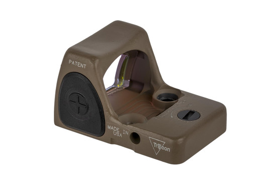 Trijicon RMR Type 2 adjustable reflex sight features a bright 6.5 MOA reticle and FDE finish perfect for your handgun slide