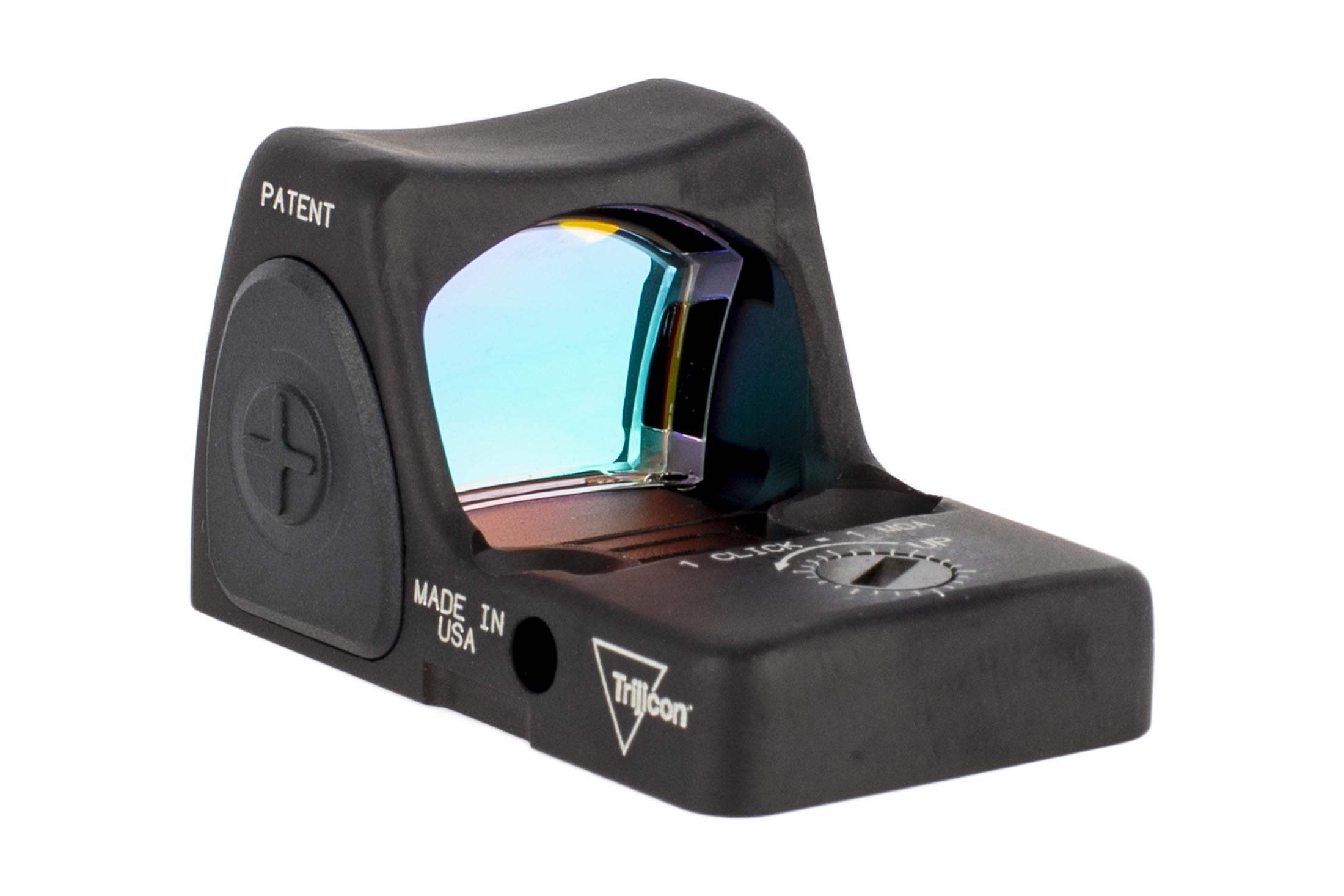 The Trjicon RM09 1 MOA red dot reflex sight for sale features 1 moa adjustable elevation and windage