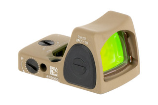 Trijicon RMR Type 2 Adjustable LED Reflex sight features a 1 MOA reticle and Flat Dark Earth cerakote finish