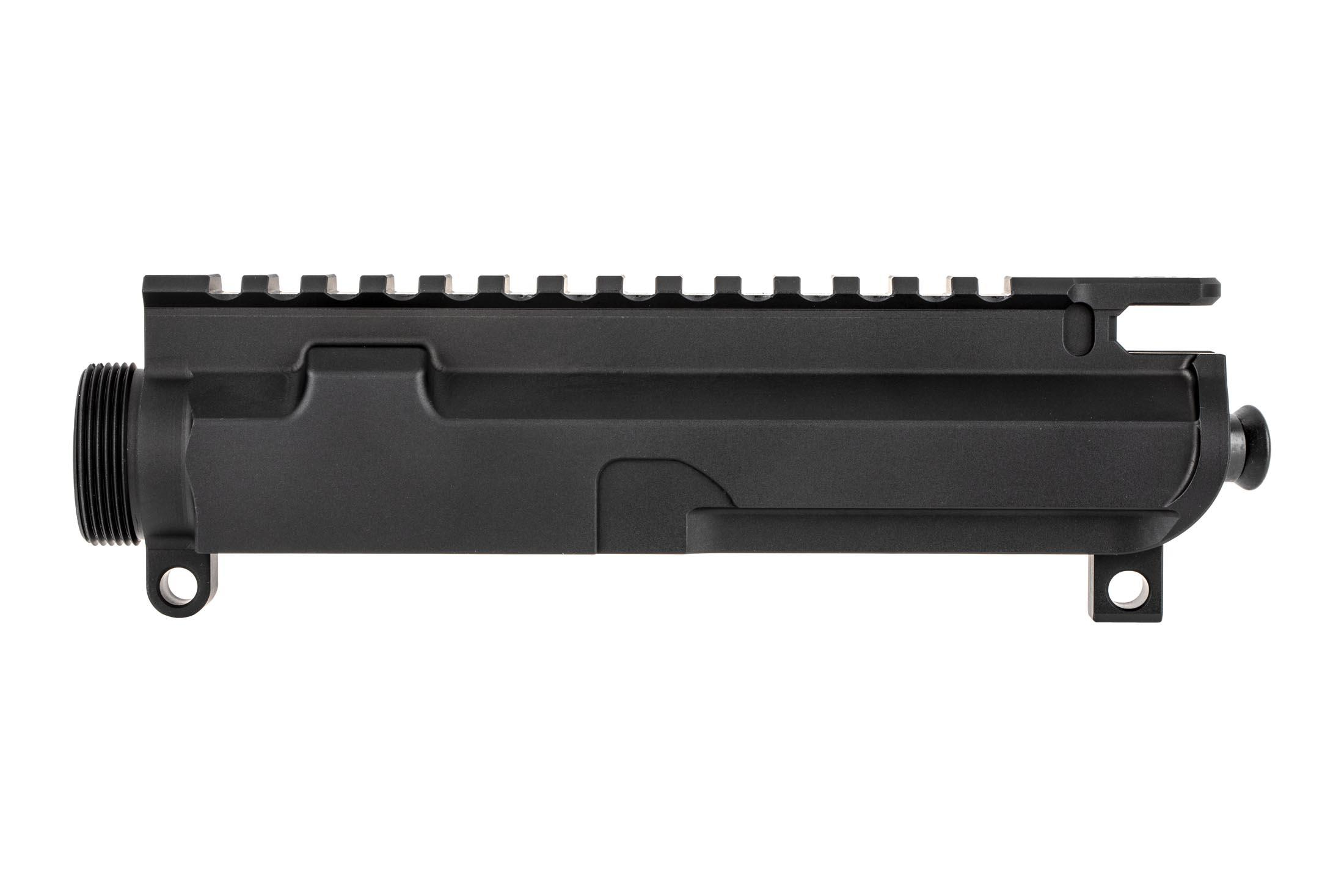 Rosco Manufacturing Purebred AR 15 uppers are carefully machined from 7075-T6 aluminum with tough anodized finish.