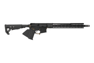 Strike Induistries Sentinel Elite California Compliant AR15 rifle features Flat Dark Earth components