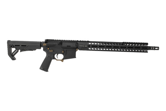 Strike Industries Sentinel Elite 223 Wylde AR15 rifle features flat dark earth components