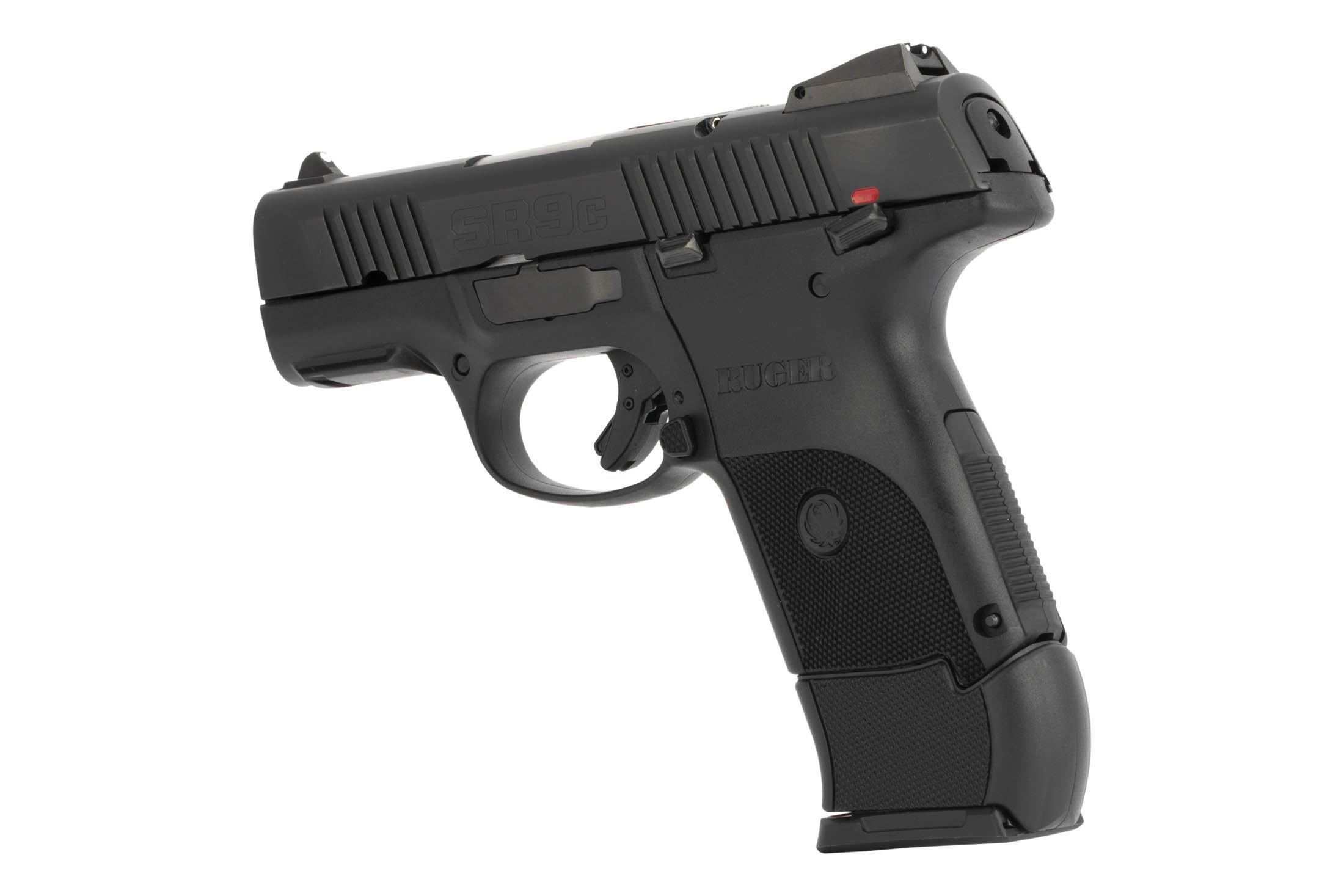 The Ruger SR9c features an extended magazine for increased grip surface area