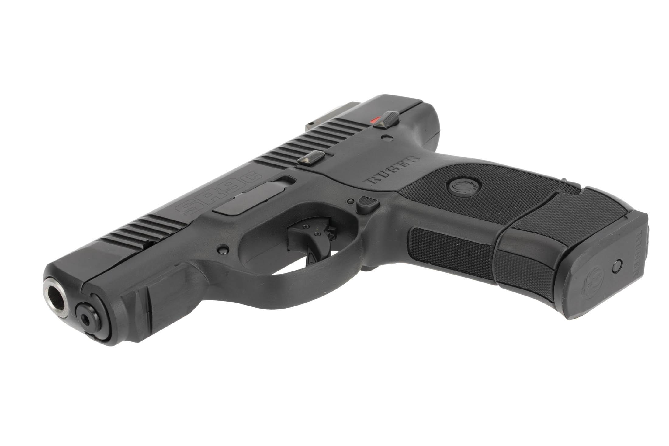 The Ruger SR9c features a customizable grip