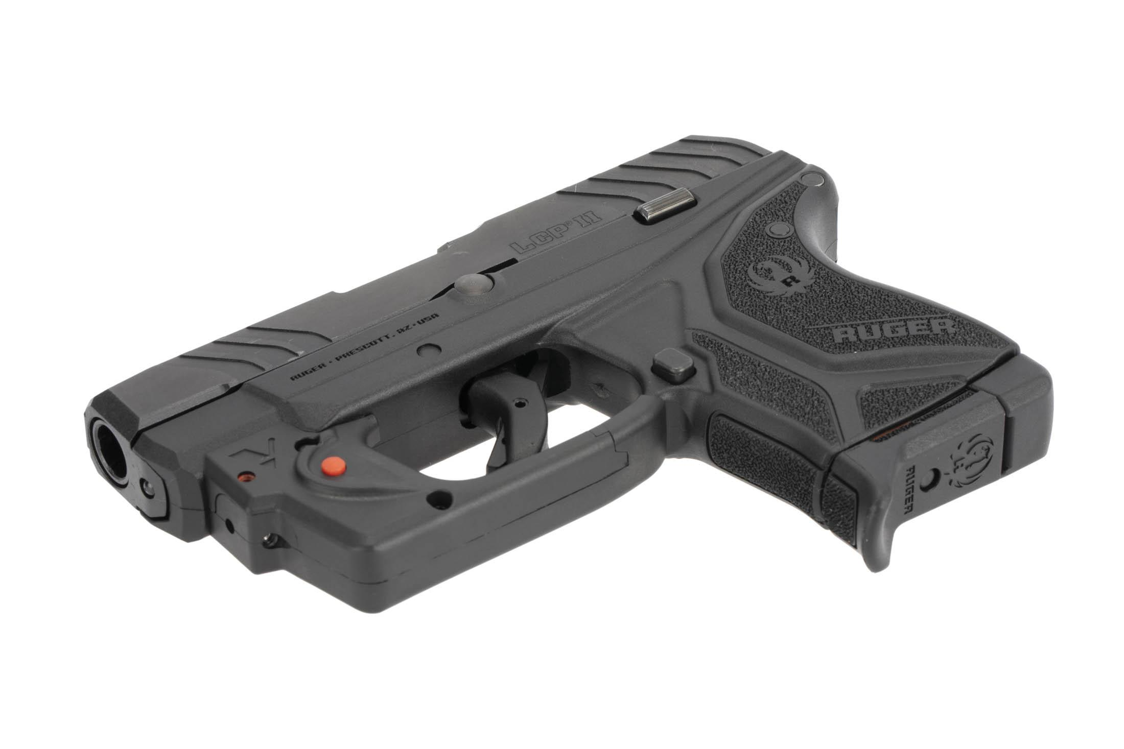 The Ruger LCP II has an integrated laser system in the trigger guard