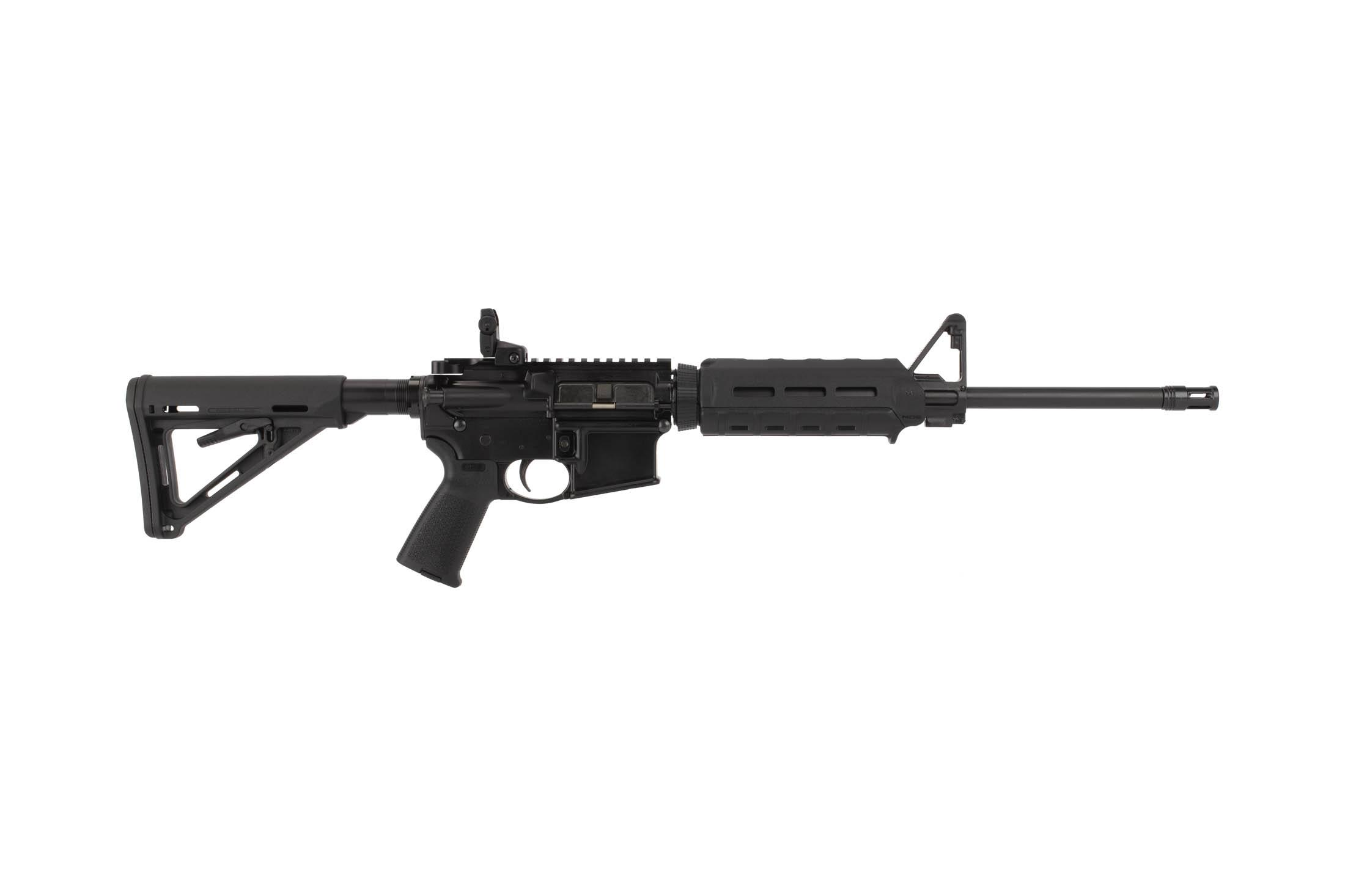 Ruger 8515 AR-556 AR-15 is ready-to-roll out of the box, complete with sights and a magazine.