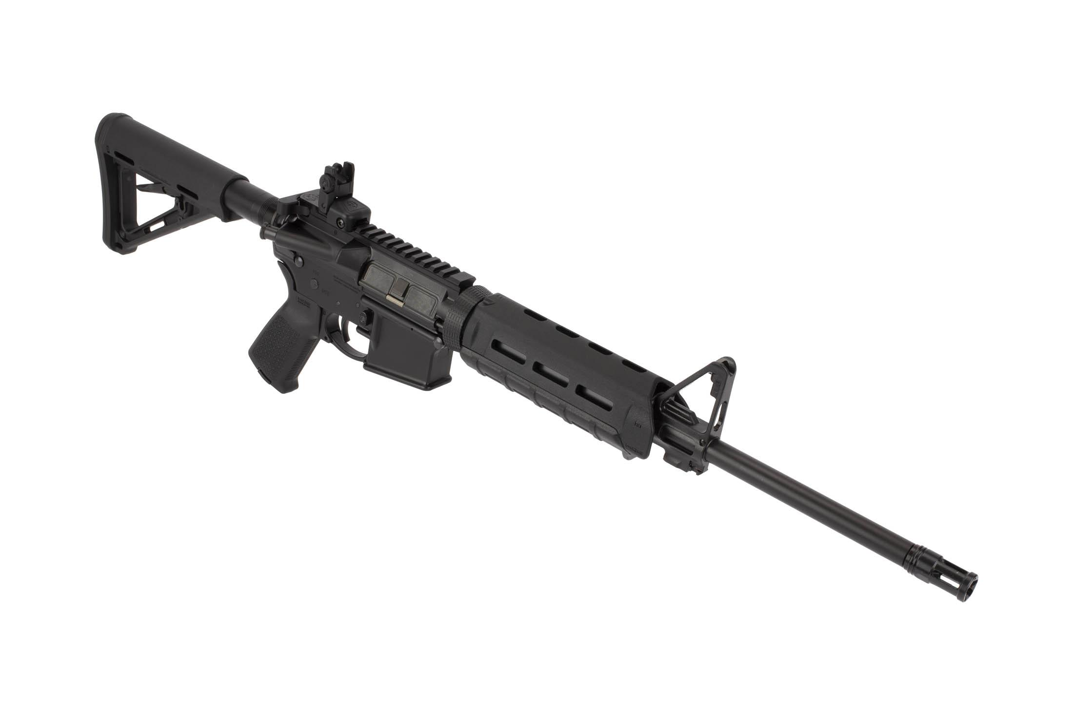 Ruger AR-556 8515 Complete AR-15 Carbine is chambered for 5.56 NATO and equipped with Magpul Furniture