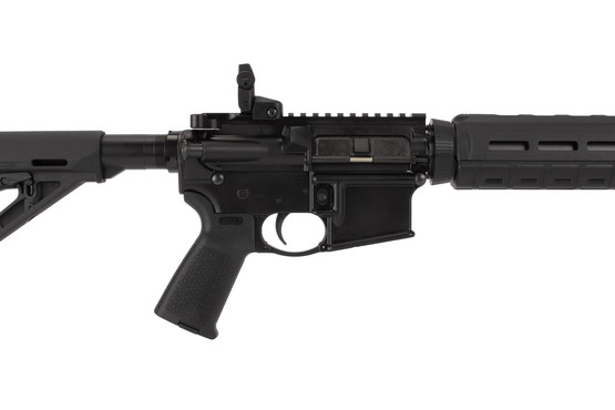 Ruger AR-556 has a patent pending delta ring assembly and barrel nut for easy installation and removal of the handguards