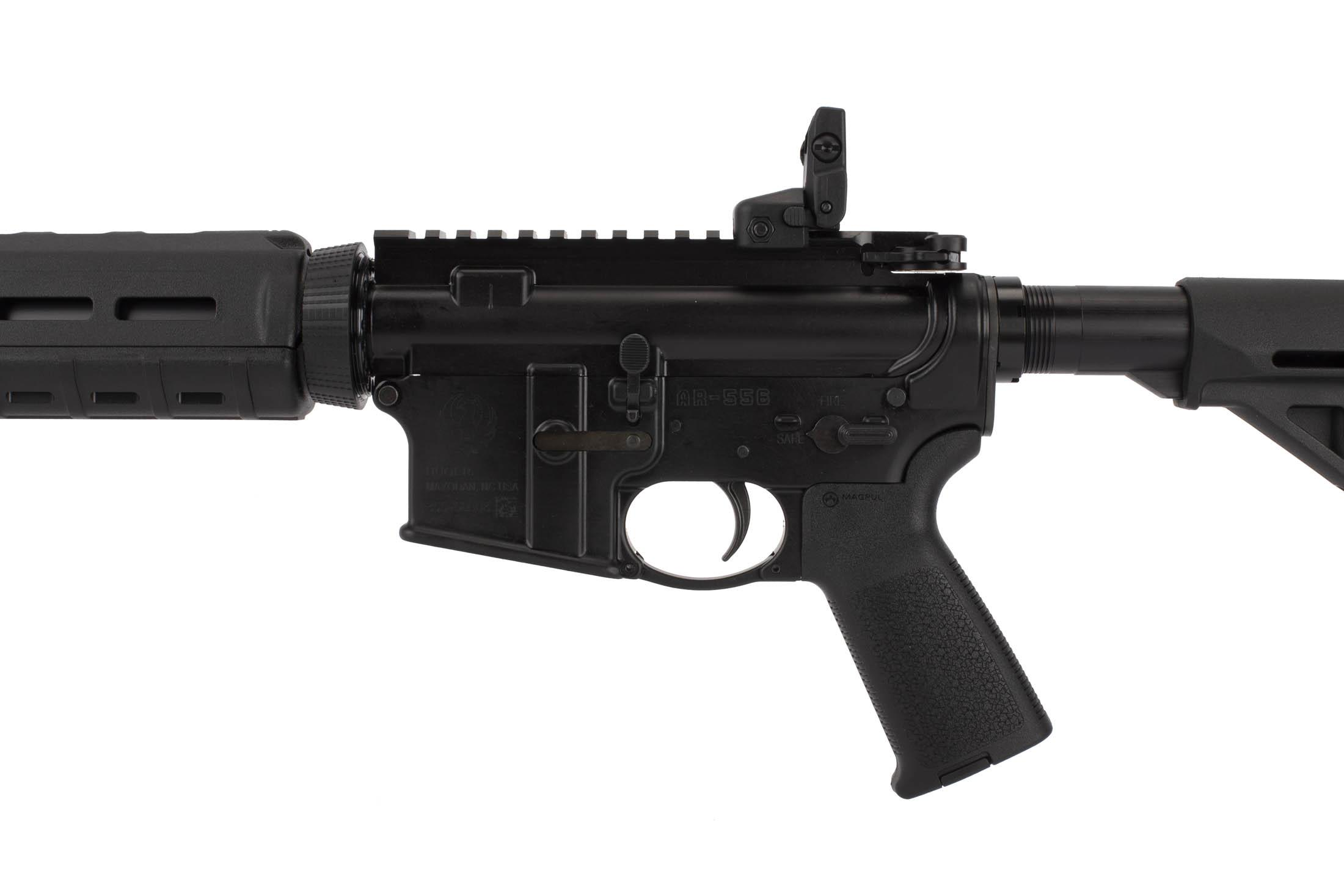 Ruger AR-556 16in AR-15 rifle with MIL-SPEC internals and a winterized glove-friendly trigger guard.