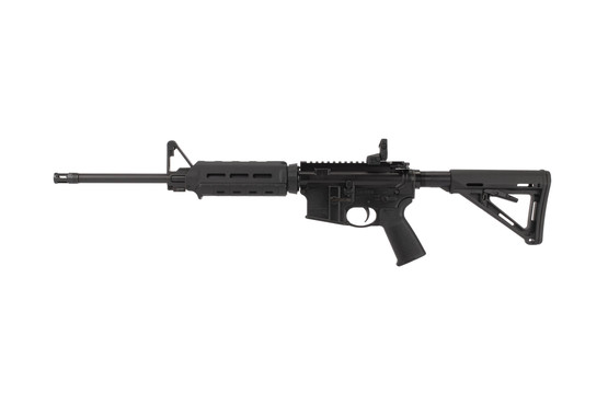 Ruger 8515 carbine length AR-15 includes Rapid Deploy rear sight and F-height front sight block