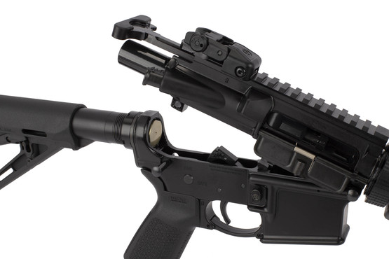 Ruger AR-556 includes a standard carbine buffer, M16 bolt carrier group, and notched semi-auto MIL-SPEC hammer.