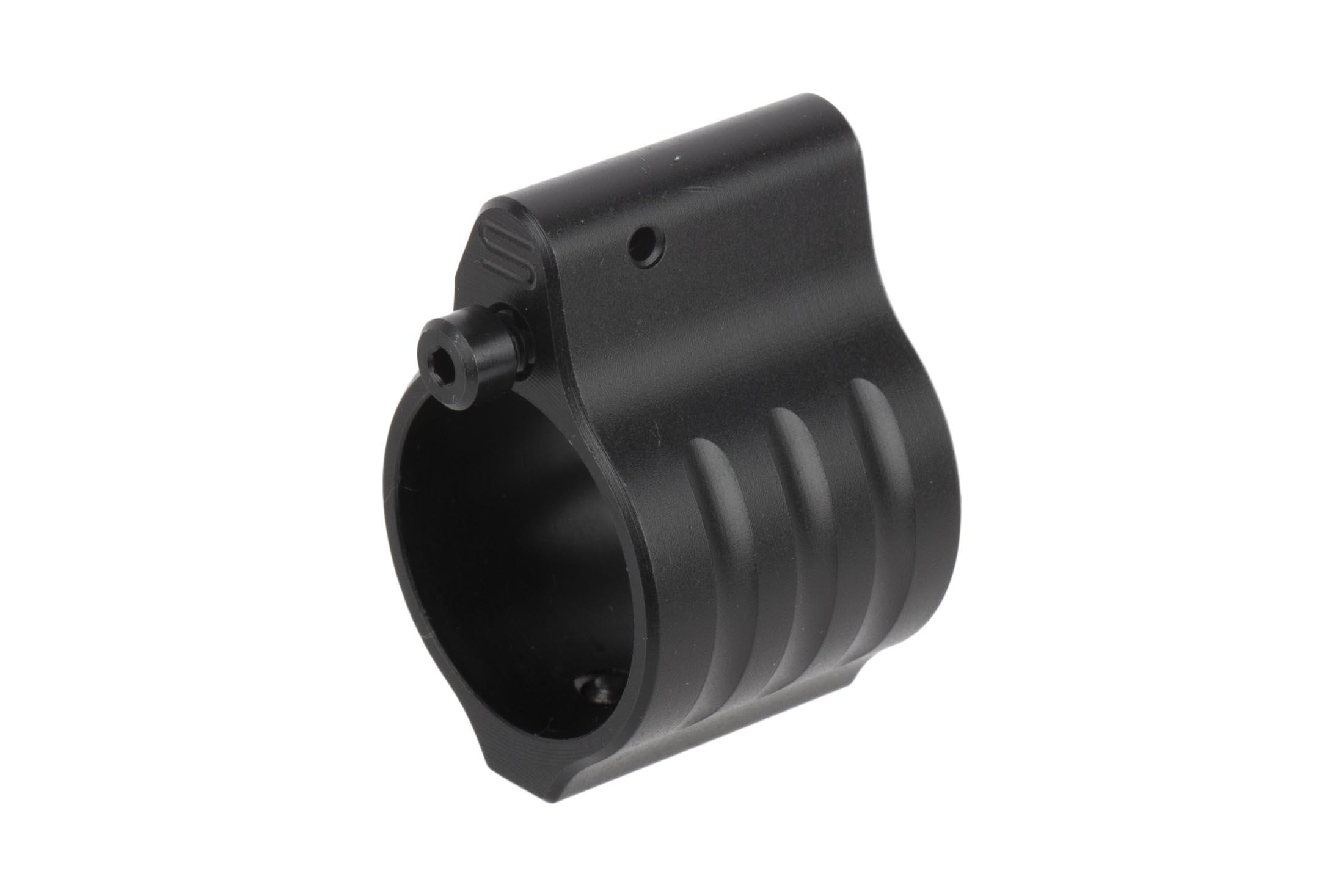 The SLR Rifleworks Sentry 8 set screw adjustable gas block has a Melonite finish