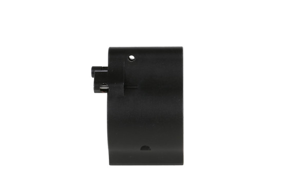 The Superlative Arms .936 low profile gas block has an outside detent to prevent carbon seizing up the adjustment screw