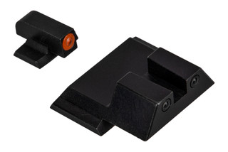 Night Fission Glow Dome M&P night sight set features a square rear and orange front