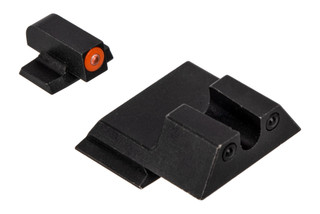 Night Fission Glow Dome M&P Shield night sight set features a U-rear and orange front