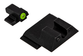 Night Fission Glow Dome M&P Shield night sight set features a U-rear and Yellow front