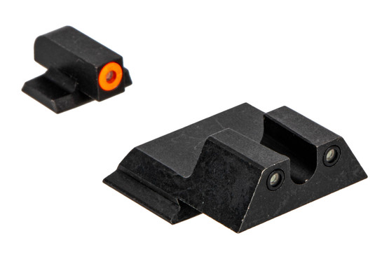 Night Fision Perfect Dot night sight set with U-notch, orange front and black rear ring for the Smith & Wesson M&P.