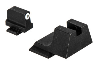 Night Fision suppressor height Perfect Dot night sight set with square notch, white front and blank rear ring for the Smith & Wesson M&P.