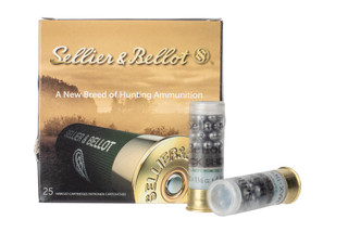 S&B 12 gauge #4 buckshot is loaded with 27 pellets