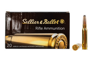 Sellier & Bellot 308 Winchester 180 grain soft point ammo for target and training in 20-round boxes.