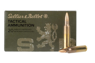 sellier and bellot 556 ammo is loaded with the M193 FMJ bullet