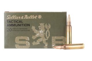 Sellier and Bellot 556 FMJ ammo comes in a box of 20