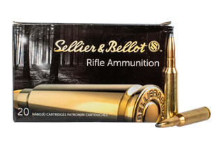 Sellier & Bellot 6.5x55mm Swedish 140 grain soft point ammo for target and training in 20-round boxes.