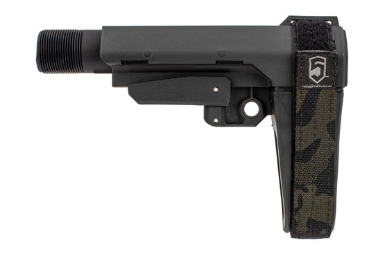 SB Tactical SBA3 brace is made from black polymer and includes a carbine receiver extension