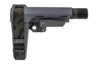 SBA3 brace in stealth grey features a black multicam arm strap