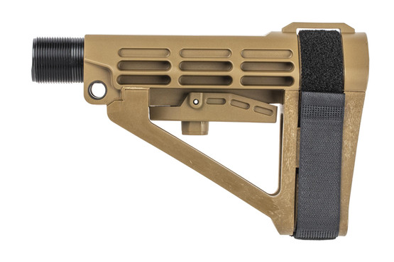 The SB Tactical SBA4 Arm Brace FDE comes with a buffer tube