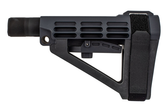 SBA4 Grey pistol stabilizing brace comes with a Mil-Spec carbine buffer tube