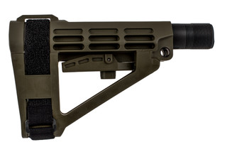 SB Tactical SBA4 Pistol Arm Brace comes in olive drab green