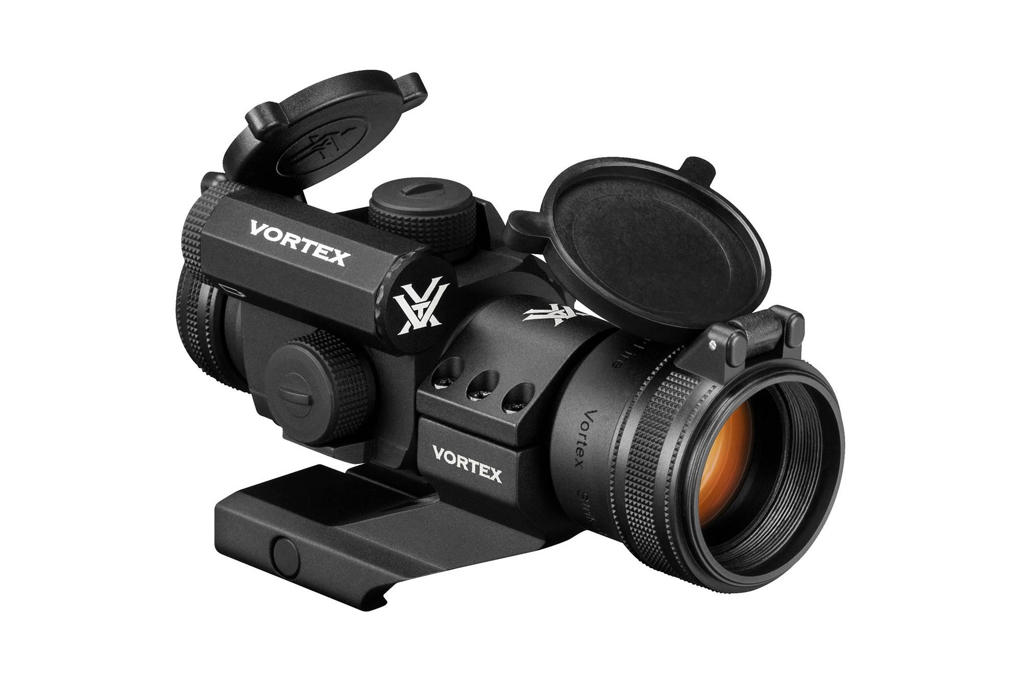 The Vortex StrikeFire II Red Dot Sight is an illuminated optic with cantilever mount for attaching to you ar15 flat top upper