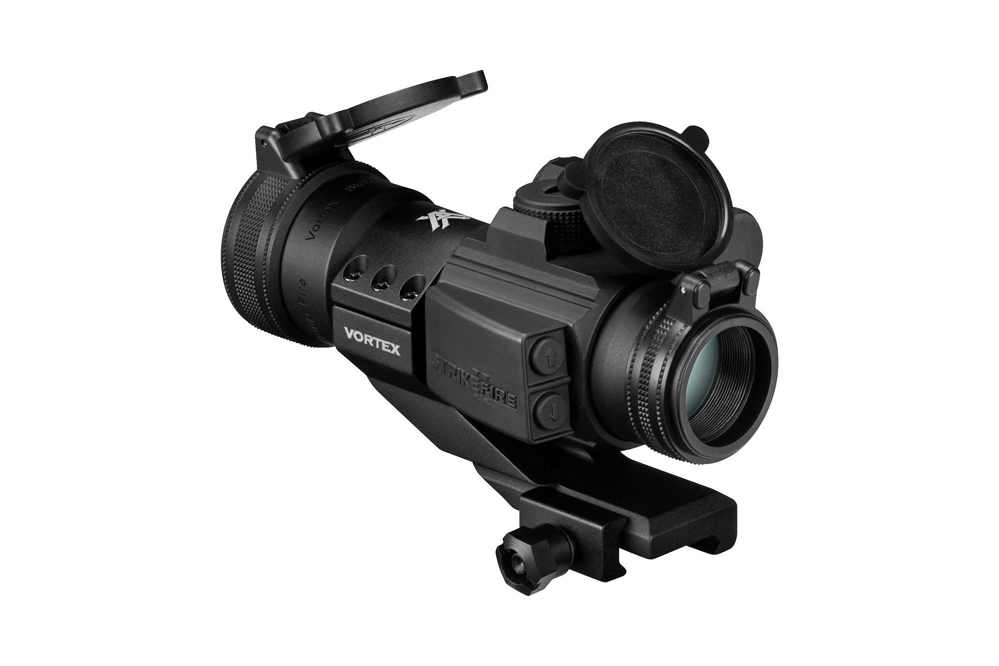 The StrikeFire II by vortec optics is an illuminated Bright Red Dot Sight with a 4 MOA dot for cqb