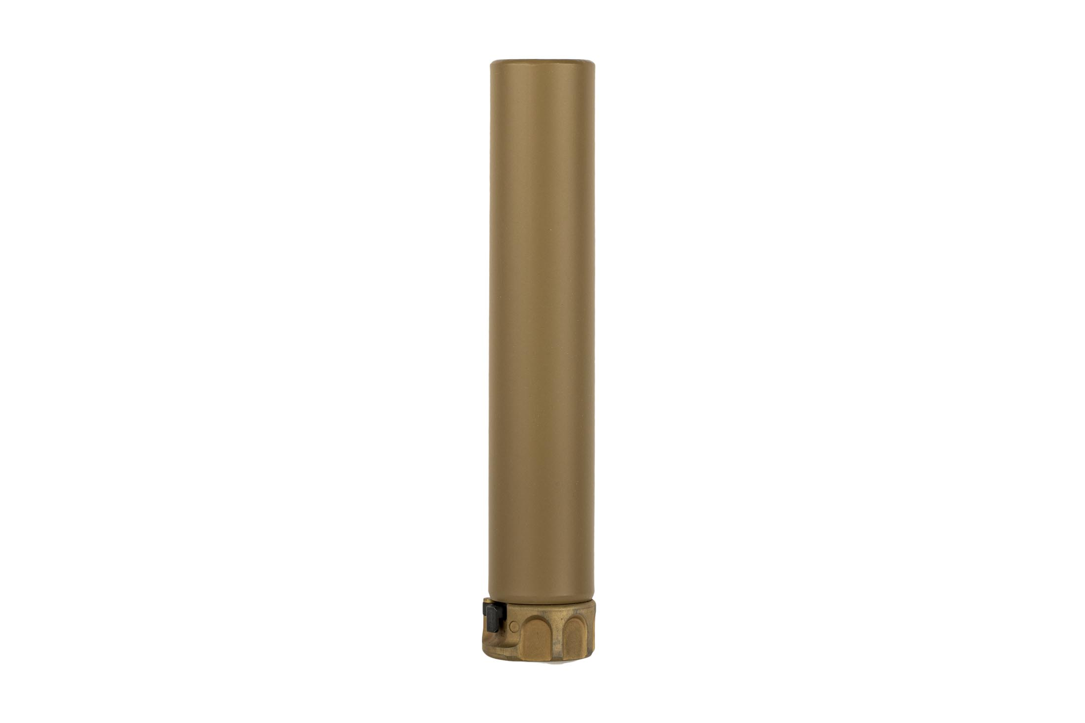 The SureFire SOCOM 7.62 Trainer Muzzle Device in FDE features the quick attach design for SF muzzle brakes