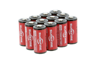 The SureFire CR123A batteries pack of 12 feature a 10 year shelf life