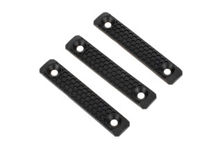 Slate Black Industries 2 slot M-LOK rail cover comes in black polymer