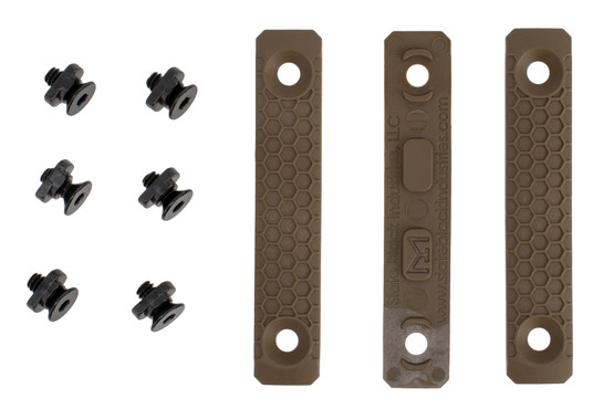Slate Black Industries 2 Slot M-LOK rail panel comes in flat dark earth