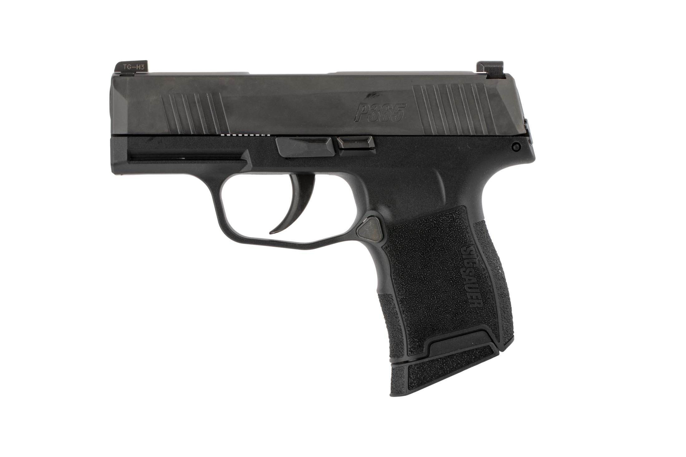 Sig Sauer 9mm P365 is equipped with a 3.1 barrel, 10-round capacity, and fantastic trigger